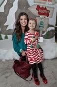 Ali Landry and daughter Estella at Santa's Secret Workshop