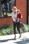 Ali Larter and Theodore out at the drs in LA