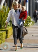 Ali Larter and her son Theodore out in LA