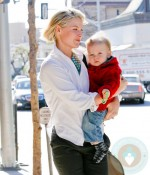 Ali Larter and son Theodore at the Doctors