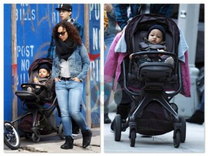 Alicia Keys our in NYC with son Egypt
