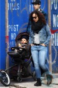 Alicia Keys with son Egypt in NYC