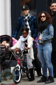 Alicia Keys with son Egypt out in NYC