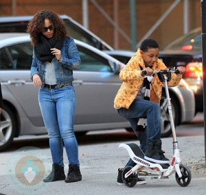 Alicia Keys with step-son Prince in NYC