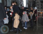 Brad Pitt and Angelina Jolie with their kids at FAO Schwartz in NYC
