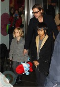 Brad Pitt with SHiloh and Maddox at FAO Schwartz in NYC