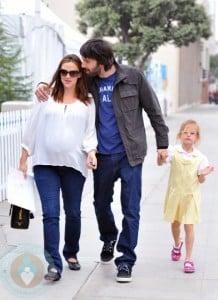 Pregnant Jennifer Garner and Ben Affleck with daughter Violet in LA