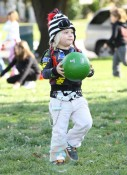 Zuma Rossdale playing at the park in LA