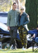 Gwen Stefani and Gavin Rossdale at the park in LA with their boys