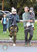 Gwen Stefani and Gavin Rossdale with their boy & Kingston Zuma at the park in LA
