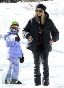 Heidi Klum and Leni Samuel in Aspen