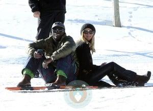 Heidi Klum and Seal Samuel in Aspen