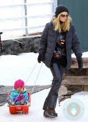 Heidi Klum and Lou Samuel in Aspen