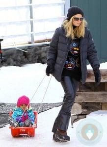 Heidi Klum and Lou Samuel in Aspen