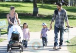 Gabriel Aubry and daughter Nahla have a playdate @ the park