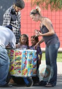 Gabriel Aubry and daughter Nahla have a playdate at the park