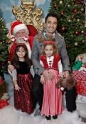 Gilles and his daughters Marini Santa's Secret Workshop Event
