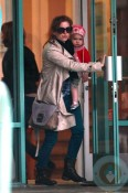 Isla Fisher and daughter Elula at the GYM in LA