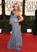 Pregnant Jane Krakowski arrives at the 68th Annual Golden Globe Awards