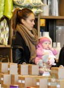 Jessica Alba and daughter Haven Christmas Shopping in LA