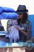Jessica Alba and daughter Haven in Cabo