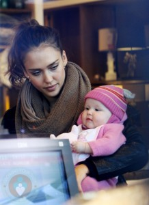 Jessica Alba with daughter Haven Christmas Shopping