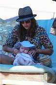 Jessica Alba with daughter Haven in Cabo