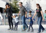 Marcia Cross and Tom Mahoney with their daughters Eden and Savannah