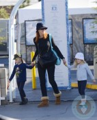 Marcia Cross with her daughters Eden and Savannah