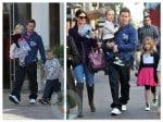 Mark Wahlberg and his family visit Santa