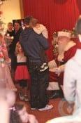 Mark Wahlberg visits Santa with his kids