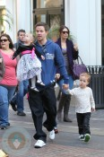 Mark Wahlberg with his daughter Grace and son Brendon at the Grove