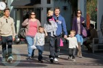 Mark Wahlberg with his family visiting Santa at the Grove