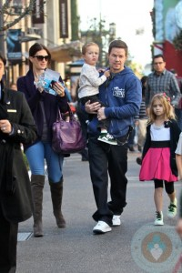 Mark Walkberg and his family at the Grove