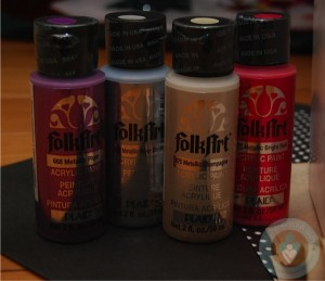 Metallic paints for ornament craft
