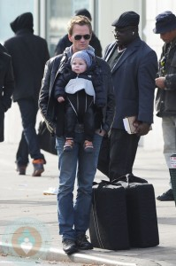 Neil Patrick Harris with son Gideon in NYC