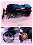 Origami stroller folded