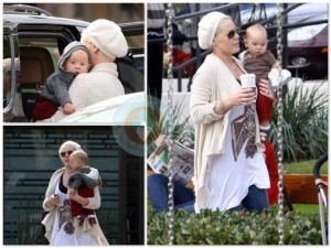 Pink and daughter Willow at the park in LA