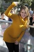 Pregnant Hilary Duff At Danskin event