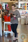 Pregnant Hilary Duff out shopping