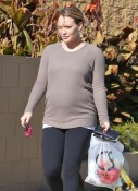 Pregnant Hilary Duff out shopping in LA