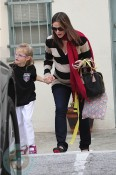 Pregnant Jennifer Garner with daughter Violet at Karate
