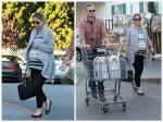 Pregnant Rebecca Gayheart and Eric Dane shopping in LA