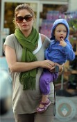 Pregnant Rebecca Gayheart and daughter Billie out in LA