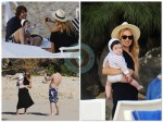Rachel Zoe and Roger Berman with son Skylar in St