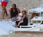 Rachel Zoe and son Skylar Berman in St