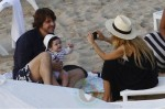 Rachel Zoe with Roger Berman and son Skylar in St