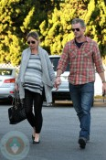 Pregnant Rebecca Gayheart grocery shopping with husband Eric Dane