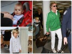 Rod Stewart and Penny Lancaster arrive in Miami with their children