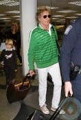 Rod Stewart and Penny Lancaster with son Alastair at MIA